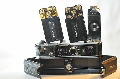 Nikon MD-2 MD 2 MB-1 MS-1 holders for F2 S SB AS TESTED WORKS NICE
