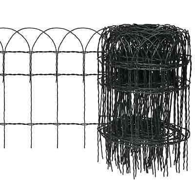New 25x0.4m Expandable Mesh Fence Garden Edging Border Iron Wire Chain Fencing