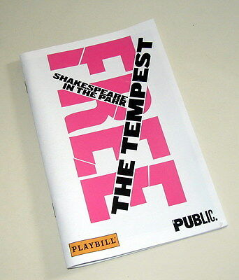 The Tempest Shakespeare in the Park Playbill Public Theater Show June 2015
