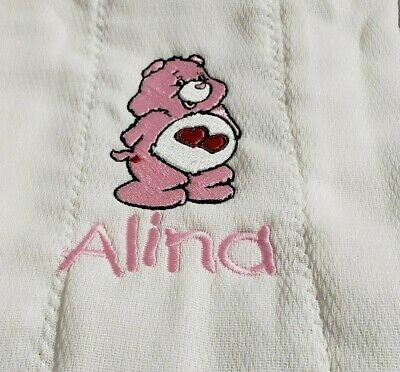 Baby Personalized Burp Cloth Carebear