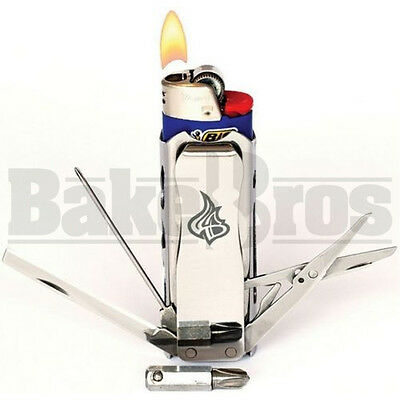 "Lighter Bro Lighterbro Pro Multi Tool 18 Functions 3"" Silver Pack Of 1"