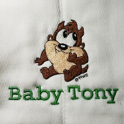 Baby Personalized Burp Cloth Taz