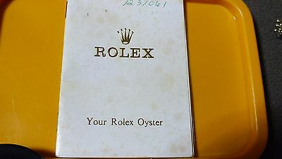 Booklet Your ROLEX Oyster 1967   English