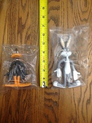 Bugs Bunny & Daffy Duck Keychains / Clips By Warner Bros. 1999 New & Sealed