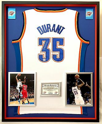 f1027c91f Premium Framed Kevin Durant Signed OKC Thunder Authentic Adidas Jersey JSA  Auth.