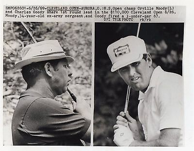 Vintage Golf Photograph Orville Moody & Charles Coody Cleveland Open  1969