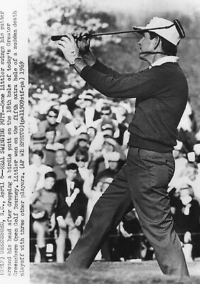Vintage Golf Photograph Gene Littler After Birdie Greater Greensboro Open 1969