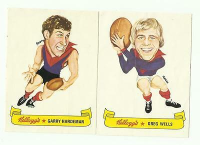 1973 Kelloggs Sticker MELBOURNE Team Set - Wells, Hardeman
