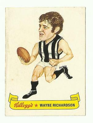 1973 Kelloggs Sticker COLLINGWOOD Wayne Richardson
