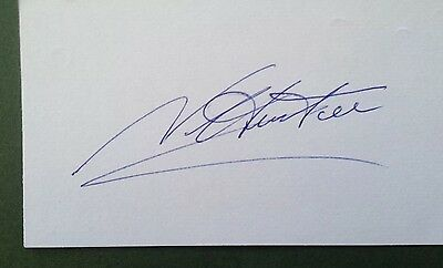 Norman Hunter Autograph Signed 5X3 England 1966 World Cup Card Leeds