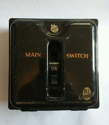 Vintage 1930s Industrial Light Switch