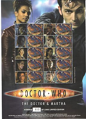 BC-119 2007 Doctor Who - The Doctor & Martha Business Smilers Sheet