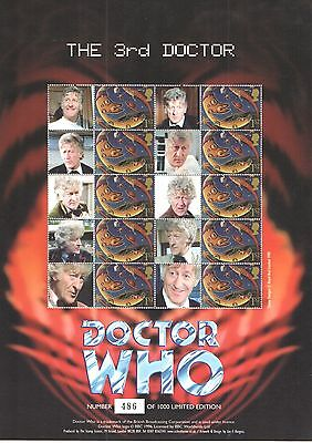 BC-141 2008 Doctor Who - The 3rd Doctor Business Smilers Sheet