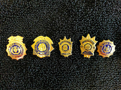 City Of New York Police Inspector, Captain, Lieutenant, Police Woman Brass Pins
