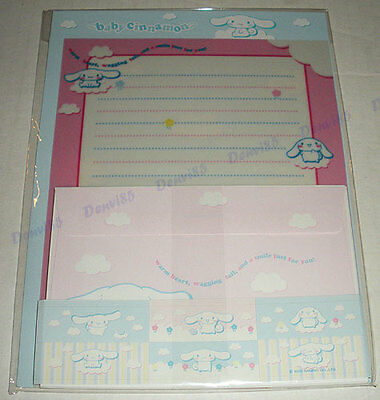 VERY CUTE & HTF! 2002 Sanrio BABY CINNAMON Stationery Set #3! NEW!
