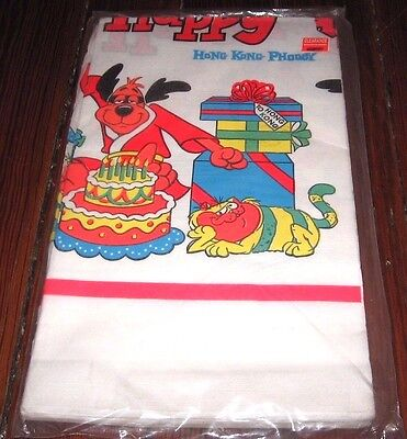 Vintage New Hong Kong Phooey Birthday Party Tablecover Hanna Barbera Toy Figure