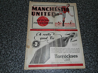 **MANCHESTER UNITED  v  DERBY COUNTY  1938/9** PRE-WAR FEB 25th BUY NOW or OFFER