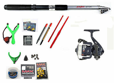 Silver Strike Travel Fishing Holiday Set / kit Tele 8ft Telescopic Rod Reel