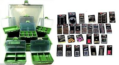 Fishing Rig making kit in  accessory box-Braid,rings,beads & Terminal  Tackle