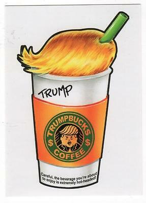 Wacky Packages - TRUMPBUCKS COFFEE - Donald Trump - Disg-Race to the Whitehouse