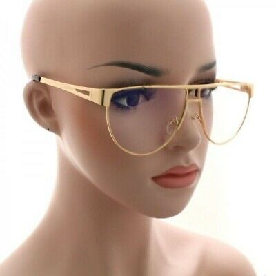 New Classic Vintage Retro Style Clear Lens Eye Glasses Gold Metal Fashion Frame