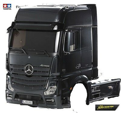 Tamiya 1:14 Fahrerhaus- Pieces Actros 1851 Gigaspace black painted out 56342