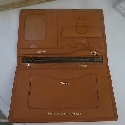 Nice vintage tan wallet purse English pigskin new in box womens