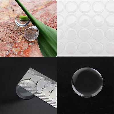 20Pcs 3D Crystal Clear Epoxy Adhesive Round Stickers Transparent Drop Glue Decor