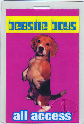 BEASTIE BOYS 1998 Tour Laminated Backstage Pass Numbered