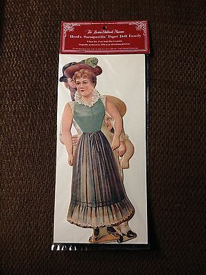 Hood's Sarsaparilla Paper Doll Family Reprint Boston Childrens Museum 1983