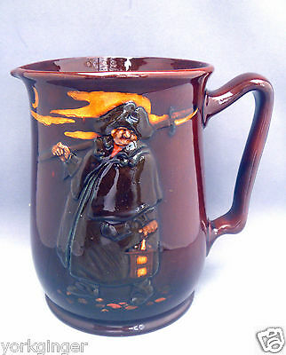"Royal Doulton "" Enough's as Good as a Feast "" Night Watchman Kingsware Water Jug"