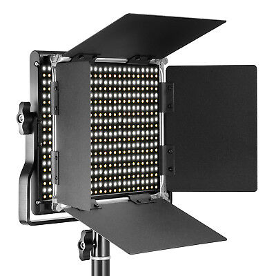 Neewer Dimmable Bi-color LED with U Bracket and Barndoor Video Light