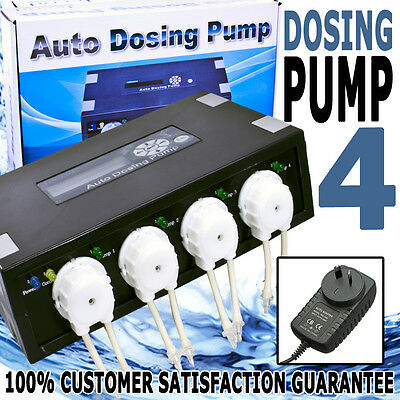 Aquarium Jebao Dosing Reef Tank Elements Automatic Channel 4 Dosing Pump