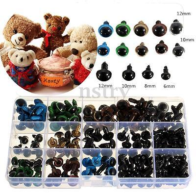 264Pcs 6-12mm Colorful 10/12mm DIY Safety Teddy Bear Eyes Doll Animal Craft
