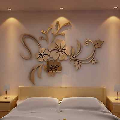 DIY 3D Mirror DIY Removable Decal Vinyl Art Wall Sticker Mural Home Decor