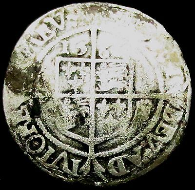 S392: 1566 Elizabeth 1st Hammered Silver Sixpence, third issue
