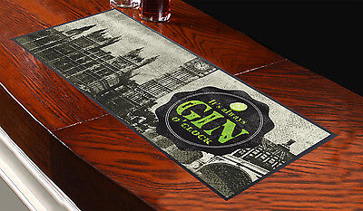 It's Always Gin O'clock Design Bar Runner Cocktail Party Pub Club Great Gift