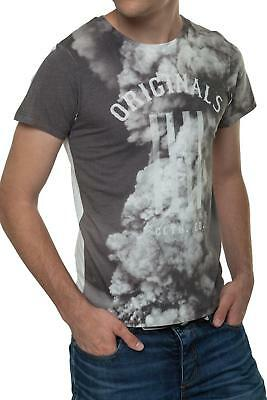Jack & Jones Herren T-Shirt Kurzarm Basic Shirt O-Neck Print Shirt Top SALE %