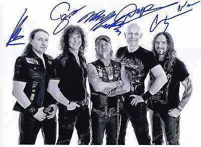 Accept Rare Amazing All In Person Signed W/proof/beweis Coa