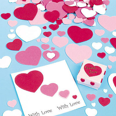 Self-Adhesive Foam Hearts for Kid's Crafts & Card Making (Pack of 150)