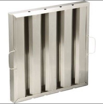 Grease Stainless Steel Baffle Filter 445X445X48mm 18X18X2 New