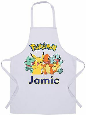 Personalised Kids Pokemon Apron - Baking/Cooking - 60x42cm