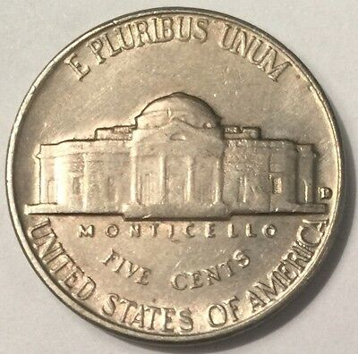 1961-D U.S.A Nickel 5 Cents coin