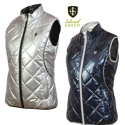 Island Green Ladies Padded Thermal Gilet / Body Warmer Perfect for Winter Golf!