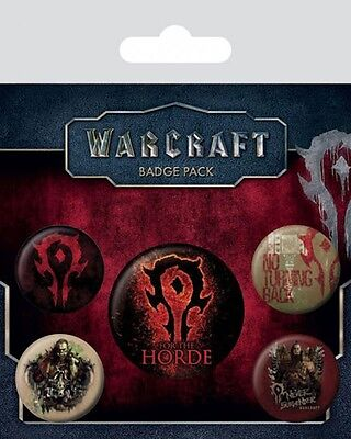 WARCRAFT - The Horde - Button Set - Badge Pack - Neu OVP