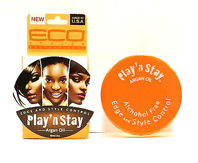 New Eco Styler Professional Edge And Style Control Play' N Stay Argan Oil 90ml