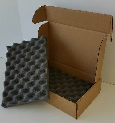"12""x8""x3"" Foam Padded Shipping Storage Box Container Mailer Lot (FREE SHIPPING)"