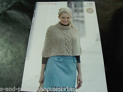 Sirdar Bouffle Soft & Light Chunky Knitting Pattern 7386 Cape