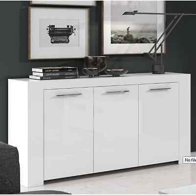 City Living Glossy Contemporary White Sideboard