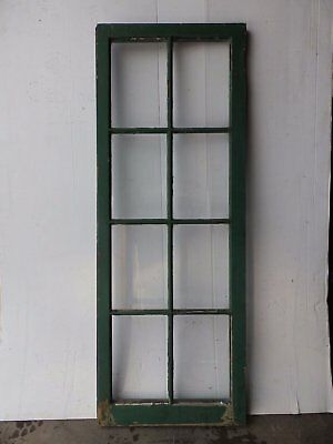 Antique 8-Lite Pantry Cupboard Casement Window Door Country Vintage 2350-16